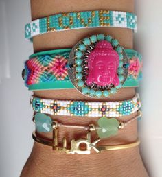 Summer Ibiza bracelets Lilou jewels...so pretty.