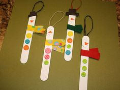 Snowman Craft Sticks  #ornament