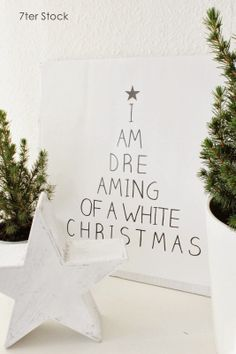 dreaming of a white christmas.