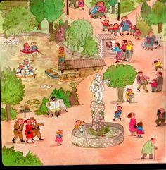 Het park, praatplaat voor kleuters / parque