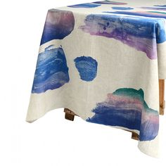 Oil Paint Palette Blue / tablecloth from Bonnie and Neil