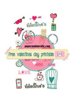 Free printable stickers and inserts for planner e scrapbook/ stampabili gratis adesivi ed inserti per agende e scrapbook Valentines day - #stickers #freestickers #planner #printable paperandneedle.com