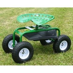 Mid West Garden Caddy Tractor Seat on Wheels