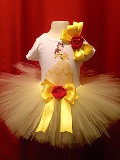 Handmade Princess Belle Inspired Tutu Outfit by TulledDreamers