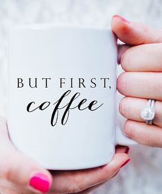 Another great find on #zulily! 'But First, Coffee' Mug #zulilyfinds