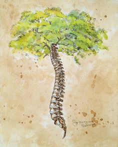 11x14 Arbor Vitae/ Tree of Life Watercolor by ScalpelAndPaintbrush