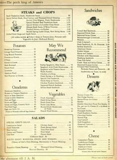 London Chop House, Detroit, MI, Dinner Menu, April 6, 1940