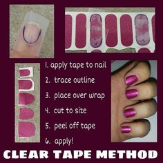 Jamberry tape method To shop/order, please go to: http://kelseyjooie.jamberrynails.net
