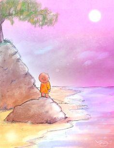 "s Buddha Doodle - ""A Sweet Moment"" Baby Buddha, Little Buddha, Yoga, Buddah Doodles, Buddha Thoughts, Buddha Wisdom, Gods And Goddesses, Illustrations, Deities"