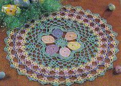 free crochet Easter Doily Pattern