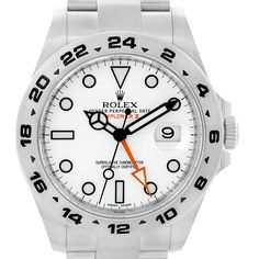 14835 Rolex Explorer II Stainless Steel White Dial Mens Watch 216570 SwissWatchExpo