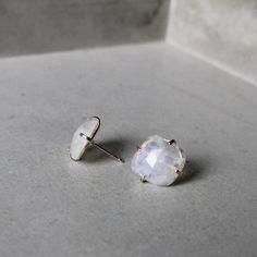 Moonstone Studs – Elaine B Jewelry