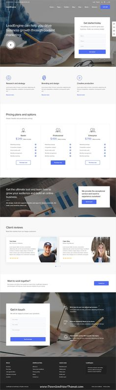 LeadEngine is a clean and modern design responsive multipurpose #WordPress #template for creative #marketing #agency website with 30+ niche homepage layouts and page builder to download & live preview click on image or Visit
