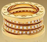 Bvlgari Jewelry - B.ZERO COLLECTION - 18 Ct Yellow Gold with Diamonds Ring