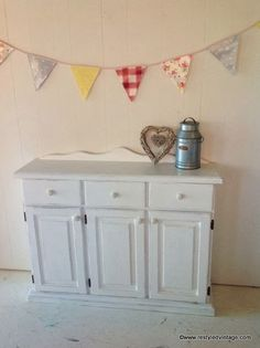 Restyled Vintage: Pure White Sideboard