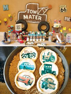 Vintage Radiator Springs Cars Themed Birthday Party