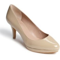 Vince Camuto 'Desti' Pump Blush Patent 6 M. A diminutive platform lends elegant height to a timelessly shaped pump lacquered in patent leather. ......[$97.95]