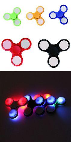 Color Changing LED Lights Focus Toy Finger Spinner