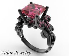 Give the princess of your life a beautiful, rich, Black Gold Princess Cut Pink Sapphire Engagement Ring,this beauty will make her feel like royalty! Description from vidarjewelry.com. I searched for this on bing.com/images