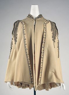 Cape Date: ca. 1890 Culture: American Medium: wool, silk, metallic