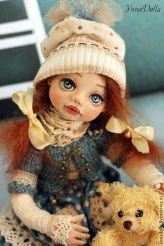 Тося - тёмно-бирюзовый,кукла ручной работы,кукла в подарок,кукла интерьерная