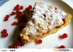 Drobenkový koláč s tvarohem a ovocem recept - TopRecepty.cz