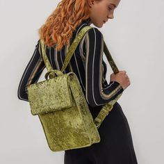 Green Basic Front Flap Backpack |CHARLES & KEITH