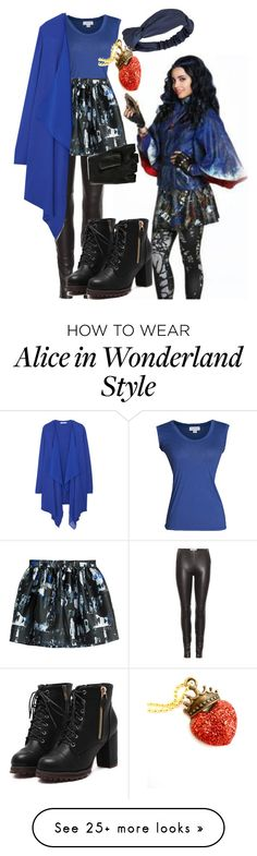 """""""Evie"""" by hipstermonkey12 on Polyvore featuring Velvet by Graham & Spencer, Maison Margiela, McQ by Alexander McQueen, MANGO, Majesty Black and Disney"""