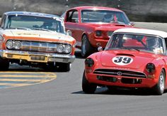 Vintage cars take to the track at #SonomaRaceway on May 17 & 18, 2014 for the Sonoma Historic Motorsports Festival. Check out our feature on them in this month's #SonomaMagazine.