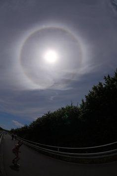 Perfektes Halo um die Sonne am 16. Juni 2013