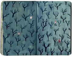 nicholas stevenson - decorated endpapers