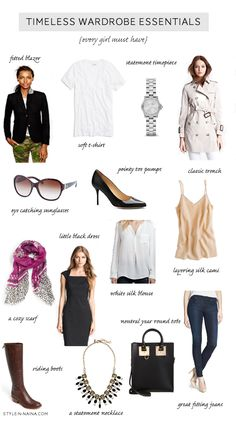 Timeless Wardrobe Essentials {every girl must have} | STYLE'N  @Christina Childress & Thompson this may be useful for you!