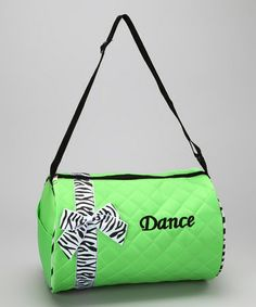 Take a look at this Lime Bow Dance Duffel Bag by Seesaws & Slides on #zulily today!