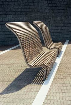 Benches in the pedestrian space at Cerea, Italy by Cino Zucchi Architetti. Visit the slowottawa.ca  boards >> http://www.pinterest.com/slowottawa