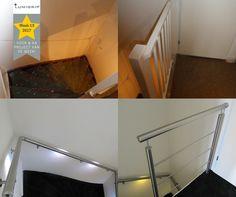 PROJECT VAN WEEK 13! RVS balustrade en leuningen met LED verlichting. Gecombineerd met een trap en vloer renovatie #lumigrip