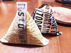 メモ【自家製パリパリおむすび包み方】の画像