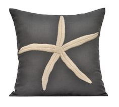 Knot Pillow Cover, 18 x 18 Throw Pillow Cover, GREY with WHITE KNOT Embroidery, Nautical Pillow Covers