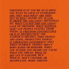 "[The Power of Prose] ""Inflammatory Essays,"" Jenny Holzer 