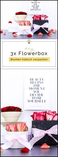 3x Flowerbox selber machen - DIY Geschenkidee für Valentinstag, Muttertag, Geburtstag usw. | DIY Deko mit Blumen | Filizity.com | DIY-Blog aus dem Rheinland #valentinstag #muttertag #geschenkidee #geburtstag #flowerbox