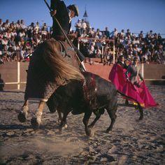 Miguel Rio Branco. Spain. Madrid. Bullfighting backstage. 1995. In the background, woman toreador Christina Sanchez. © Miguel Rio Branco/Magnum Photos.