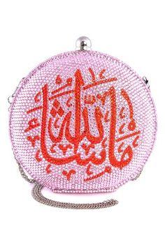 The Good Practice, Pink Masha'Allah Crystal Clutch