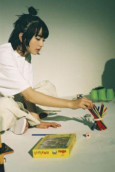 Ginza Mag Photoshoot N. Human Poses Reference, Pose Reference Photo, Aesthetic People, Aesthetic Girl, Nana Komatsu Fashion, Komatsu Nana, Grunge Hair, Film Photography, My Idol