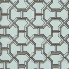 Seafoam Green | Henri d'Origny | QUARTZ Pattern | Geometric Pattern | Hermes Paris | Fashion Brand | Wallpaper Design | Fabric Pattern