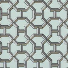 Seafoam Green | Henri d'Origny | QUARTZ Pattern | Geometric Pattern | Hermes Paris | Fashion Brand | Wallpaper Design | Fabric Pattern