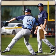 Tampa Bay Rays Spring Training 2015 - Alex Cobb and Jim Hickey. Great photo by Will Vragovic of the Tampa Bay Times