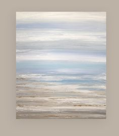 Art Abstract Painting Canvas Acrylic Beach Shabby Chic Titled: Come Away With Me…