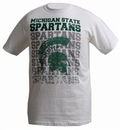 Michigan State Spartans Repeating T-shirt College Shirts, Michigan State Spartans, Mens Tops, T Shirt, Clothing Ideas, Clothes, Party Ideas, Supreme T Shirt, Outfits