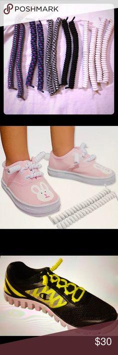 8 pair Vintage 80/'s School Colors Fashion Shoe Laces NOS Lot of 8