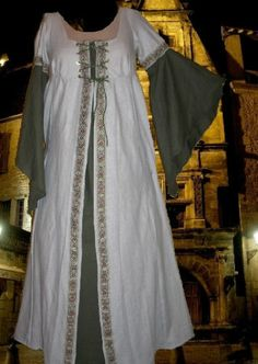 Medieval Renaissance SCA Garb Costume TANSAGE1PC Laceup LOTR Buttrflyslvs L XL | eBay