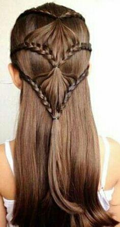 Girl Haircuts, Little Girl Hairstyles, Dance Hairstyles, Braided Hairstyles, Medium Hair Styles, Long Hair Styles, Creative Hairstyles, Toddler Hair, Great Hair